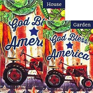 Evergreen Scientific Tractor bandera de dios Bendiga Bundle (paquete de 2)