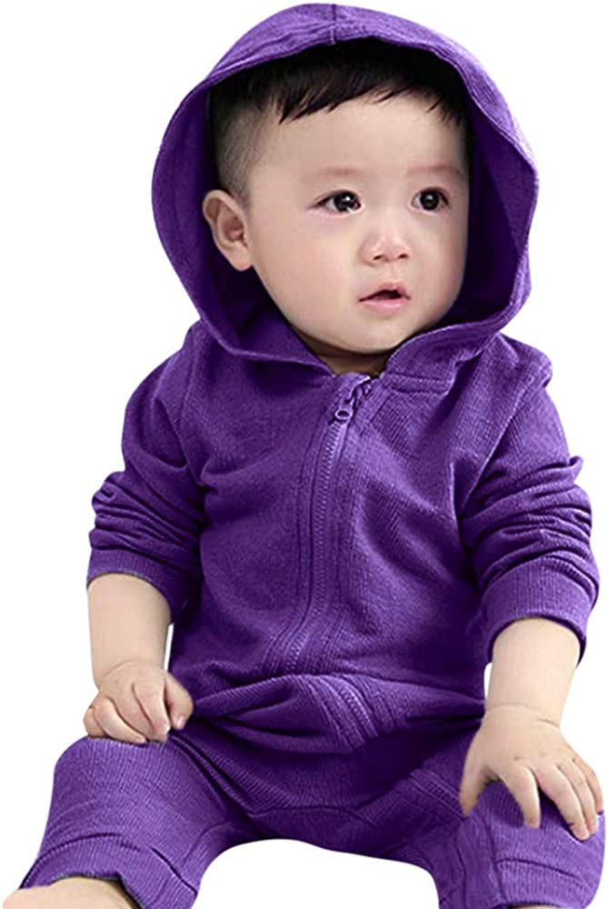 Palarn Baby Clothes Infant Toddler Baby Girls Boys Dinosaur Hoodie Romper Zip Clothes Jumpsuit