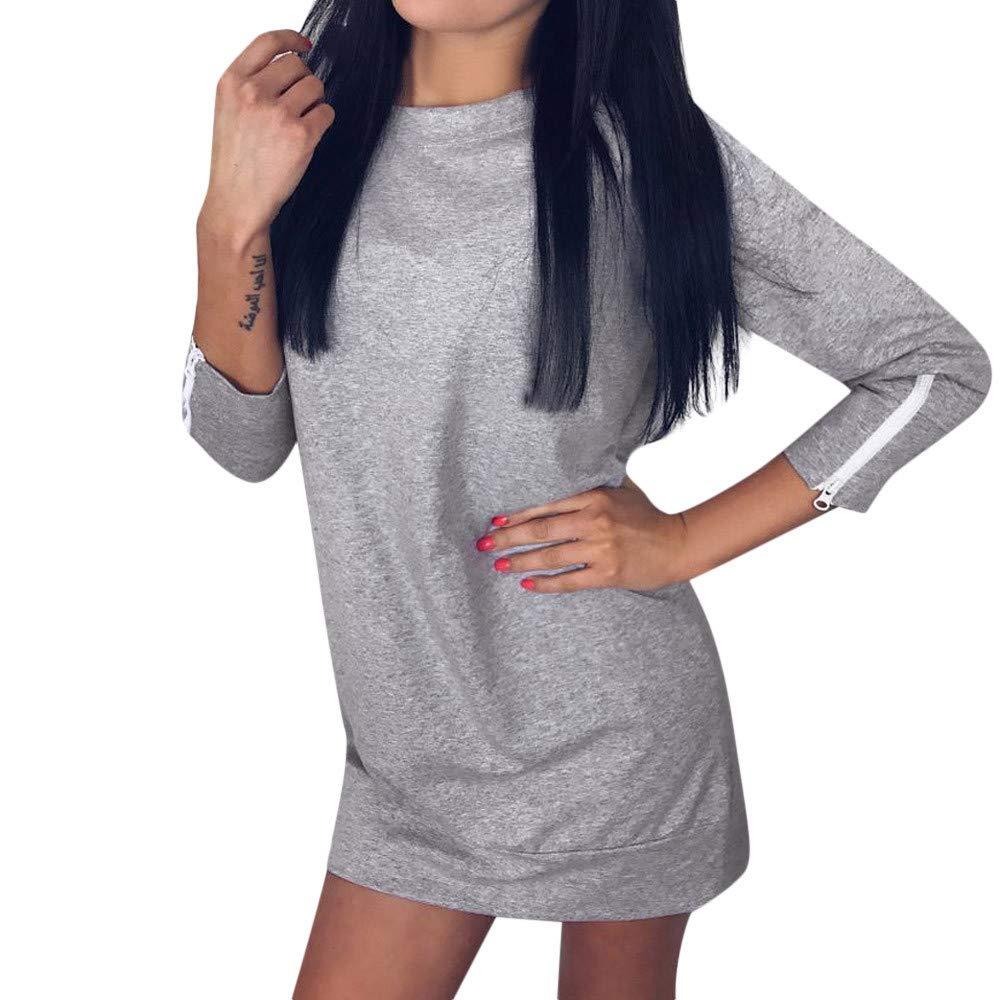 Amlaiworld Donna Casual Manica Lunga Hoodies Maglione Pullover Vestito Felpa