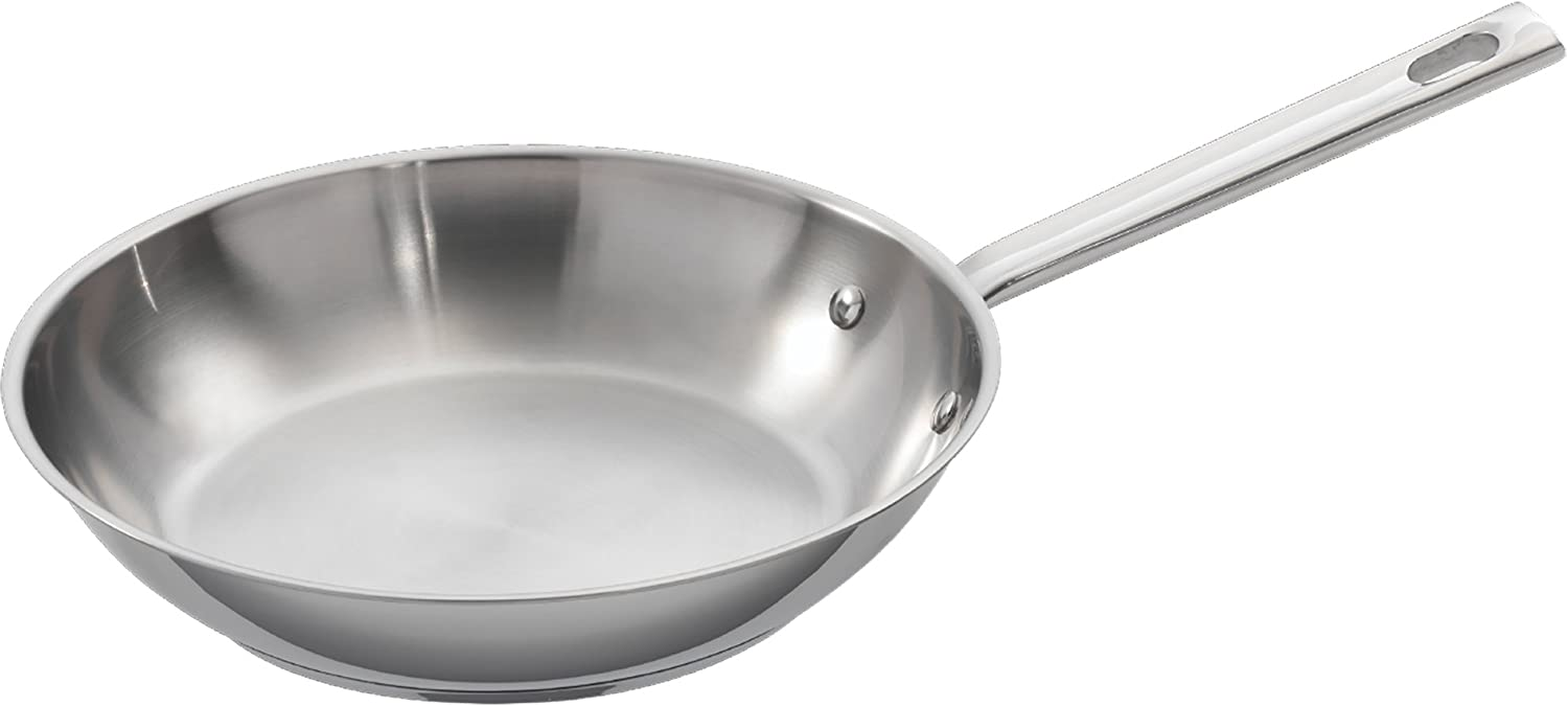 """Emeril All Clad Copper Core Stainless 10/"""" Saute Skillet Fry Chef/'s Pan /& Lid"""