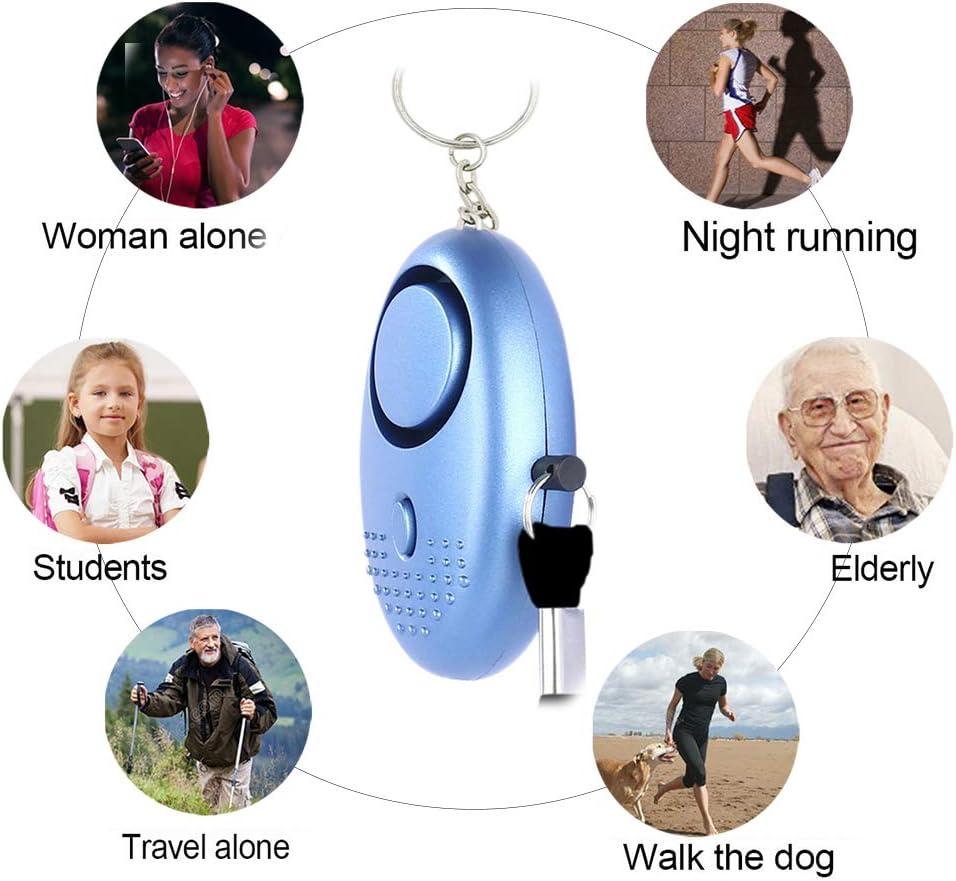 Monedero Alarma Alarma de p/ánico Llavero Mini Seguridad Alarma de Emergencia autodefensa Sirena para Mujeres ni/ños ni/ña Anciano Kylewo 5 Piezas Alarma Personal 140 db
