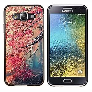 LECELL--Funda protectora / Cubierta / Piel For Samsung Galaxy E5 E500 -- Feuille --