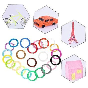 24 Color/Set Impresora 3D Filamento Seguridad Plástico Material de ...