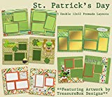 St Patrick's Day Scrapbook Set - 5 Double Page Layouts