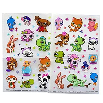 Hasbro Littlest Pet Shop - Colourful Creative Rub on Transfer Stickers - 2 Sheets: Toys & Games