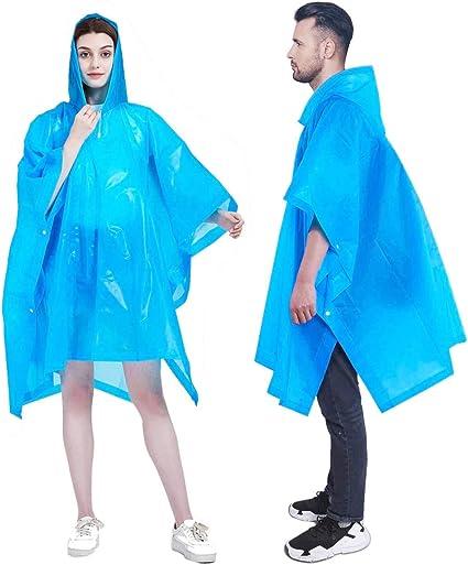 Reusable Raincoat for Women and Men Premium EVA Rain Poncho Clear Reusable Clear Plastic Rain Ponchos for Adults Waterproof Rain Coat Reusable Poncho with Drawstring Hood