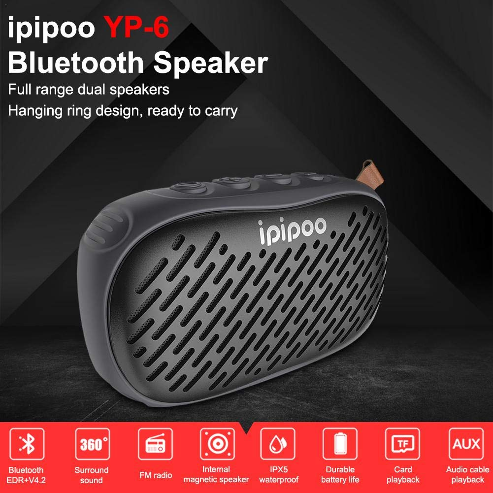 Wireless Bluetooth V4.2 Portable Speaker with HD Sound and Bass, Built-in Microphone, Standby 45 Days, Waterproof Portable Wireless Speaker