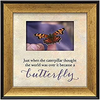 """product image for Imagine Design 7.5""""x7.5"""" Caterpillar Touching Thoughts Framed Wall Art, 7.5"""" x 7.5"""""""