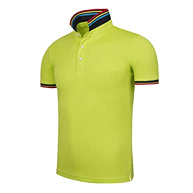 4d63348a74b Richard Nguyen Men Clothing New Polo Shirt Business Casual Fashion Solid  Color Polo Male Short Sleeve