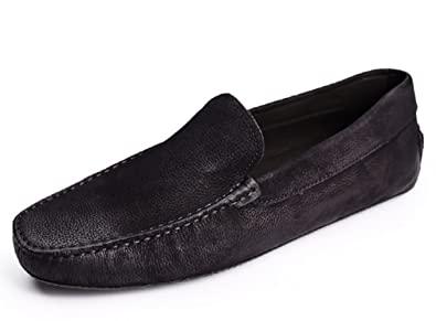 TM Mens Retrospect Leather Moccasin Comfort Slip-On Loafers Driving Shoes