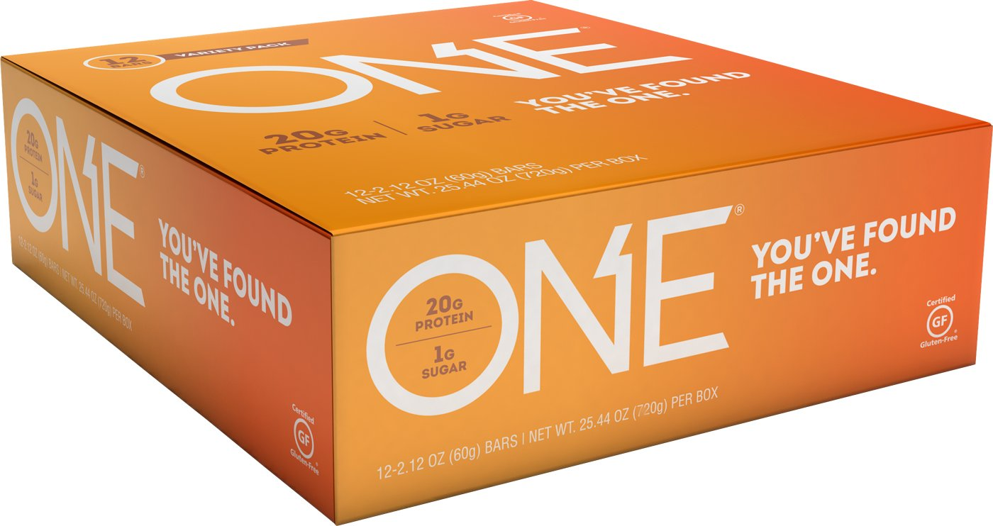 ONE Protein Bars, Best Sellers Variety Pack, Gluten Free with 20g Protein and only 1g Sugar, Includes Birthday Cake, Almond Bliss, Maple Glazed Doughnut Peanut Butter Pie, 2.12 oz 12 Pack