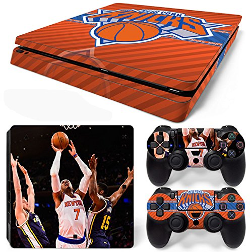 Price comparison product image FriendlyTomato PS4 Slim Console and DualShock 4 Controller Skin Set - NBA - PlayStation 4 Vinyl