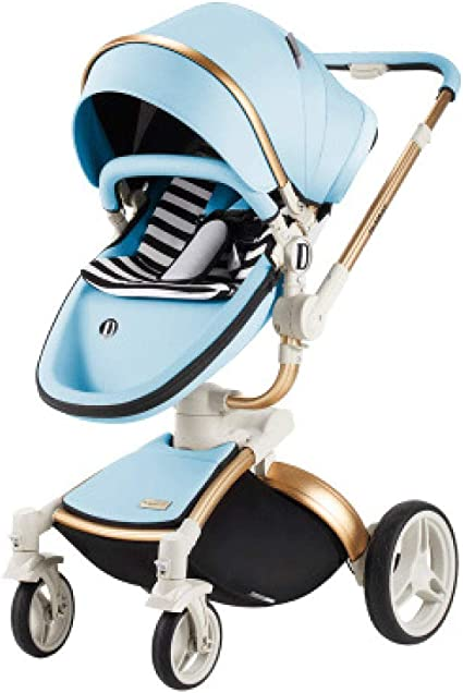 LIANGDEMO Baby Carriage 360 Degree Rotating baby stroller brand 2 in 1 baby Pram 3 in 1 leather carriage Aluminium Four Wheels Stroller