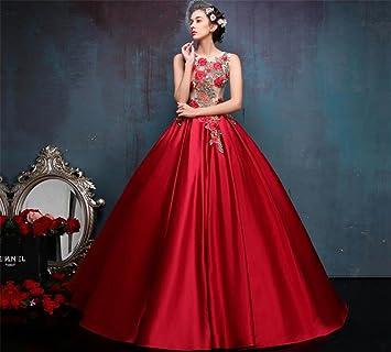 LUCKY-U Vestido De Novia, Vestidos Rojos De La Mujer Vestidos De Novia Rojos