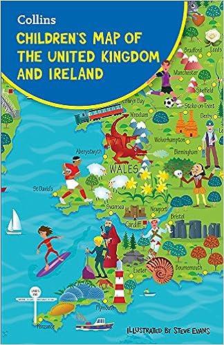 Map Of Ireland United Kingdom.Collins Children S Map Of The United Kingdom And Ireland Steve
