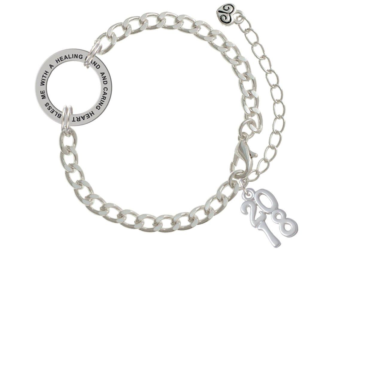 a68dc8ccfae9 Amazon.com  Vertical Year - 2018 - Healing Hand Affirmation Link Bracelet   Jewelry