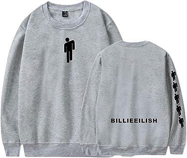 Unisexo Sudadera sin Capucha Billie Eilish Impreso Sweatshirt ...