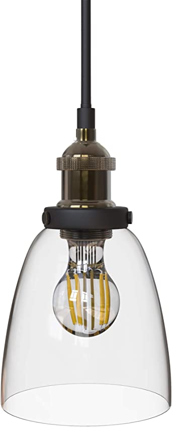 B.K.Licht Lámpara de techo colgante de una llama, estilo vintage ...