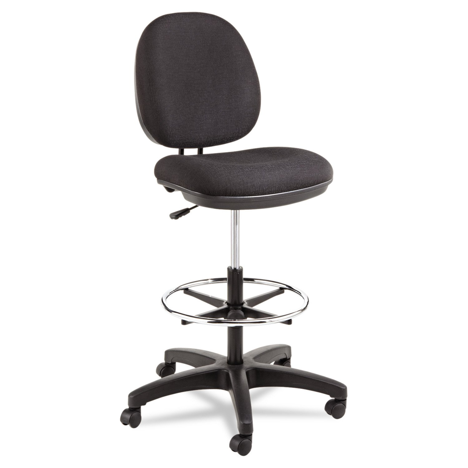 Alera Interval Series Swivel Task Stool, 100% Acrylic, Black by Alera