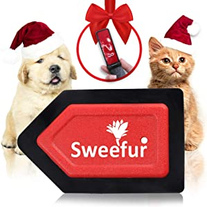 Sweefur Pet Hair Remover Brush for Dogs and Cats, Pet Hair Detailer for Car Seats, Carpets, Couches and Furniture- Professional Mini Pet Hair Remover for Pet Fur, Self Cleaning Brush