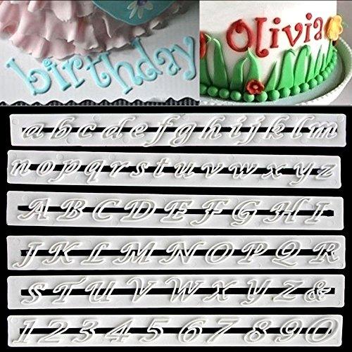 6 pcs Alphabet Letter Number Cutter Tools Cake Decoration Fondant Sugarcraft Mold-Lowercase