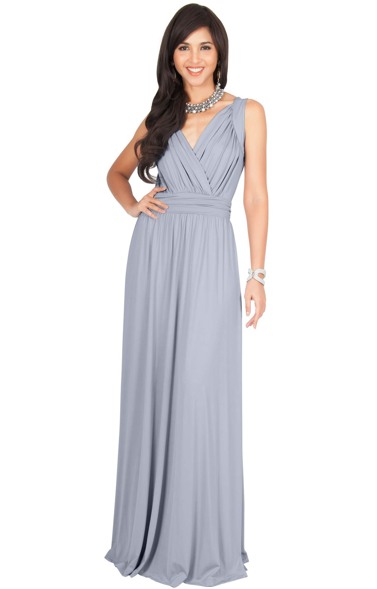 511aed4e56 KOH KOH Plus Size Womens Long Sleeveless Flowy Bridesmaids Cocktail Party  Evening Formal Sexy Summer Wedding Guest Ball Prom Gown Gowns Maxi Dress  Dresses, ...