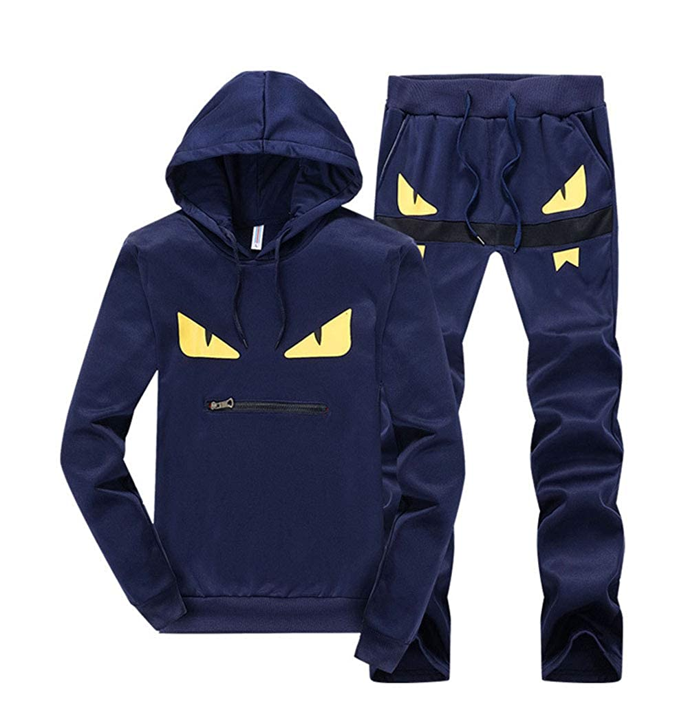 Musnow Boys Tracksuits Cartoon Sweatsuits Cute Print Jogging Sports Suits Hoodies 2 Pieces