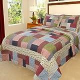 Bedford Home Savannah Printed 2-Piece Quilt Set, Twin