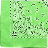 Military Army Trainmen Paisley Bandanas (Lime Green - 22')