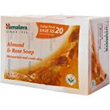 Himalaya Herbals Soap, Almond and Rose, 125g (Pack of 4, Save Rupees 20)