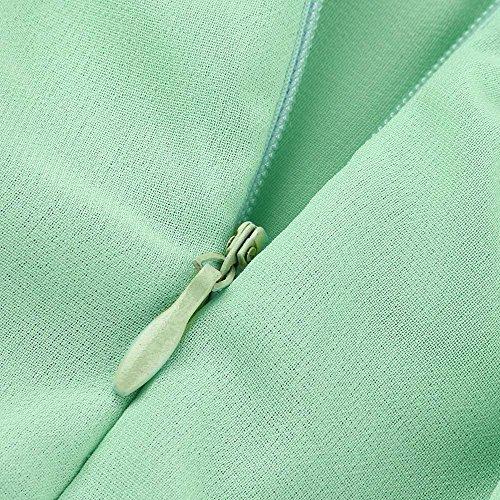 V Abito Vestito Cerimonia da Sposa Colore Estivo Sera Puro Abiti Estate Matrimonio per da Donna Abito Spiaggia Donna Donna Vestito da Lungo Eleganti Verde Yusealia Collo Vestiti Festa Donna Menta x4zSwX