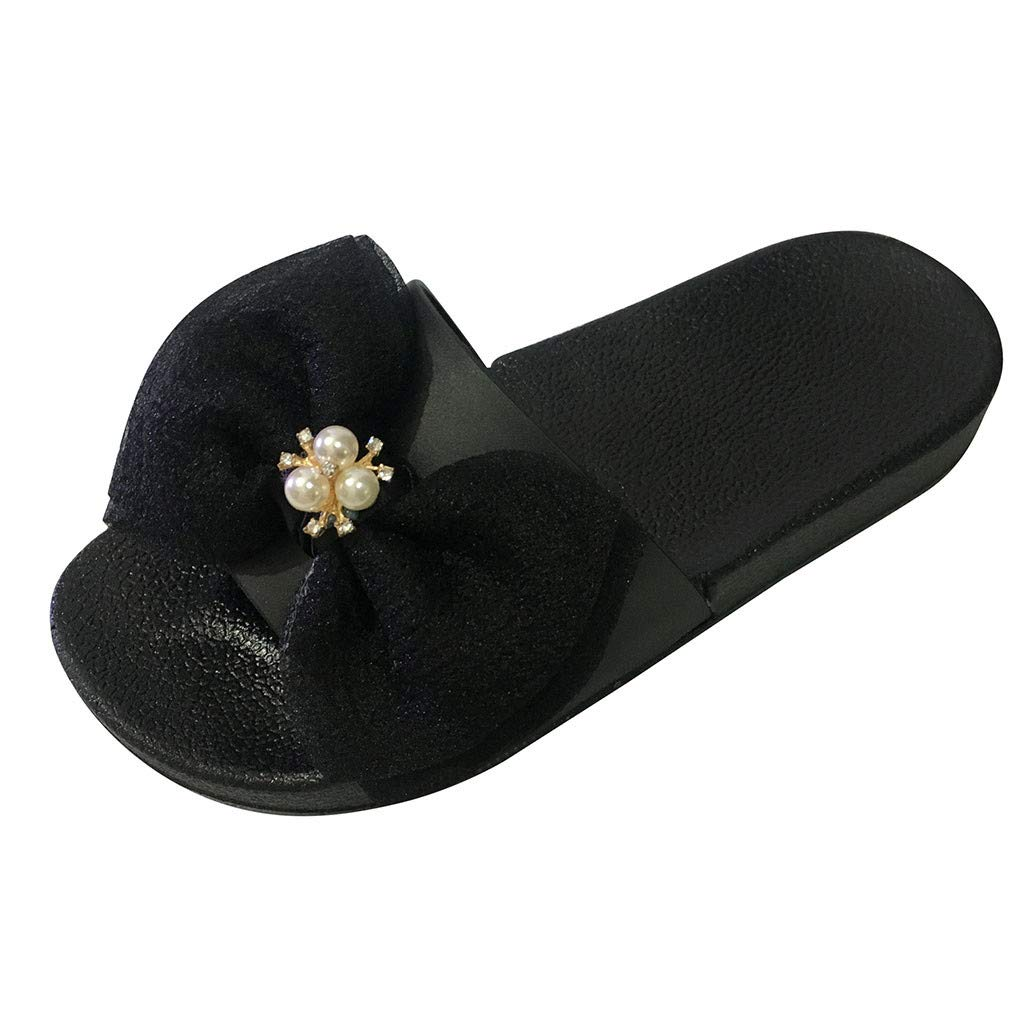 Letdown 2019 Spring Deals Sandals Summer Women Ladies Girls Bowknot Crystal Flat Sandals Slippers Beach Shoes