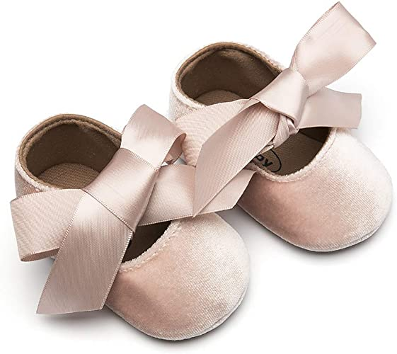 Baby Girl Infant Toddlers Soft Crib Shoes Ribbon Prewalkers Cack Free Shipping