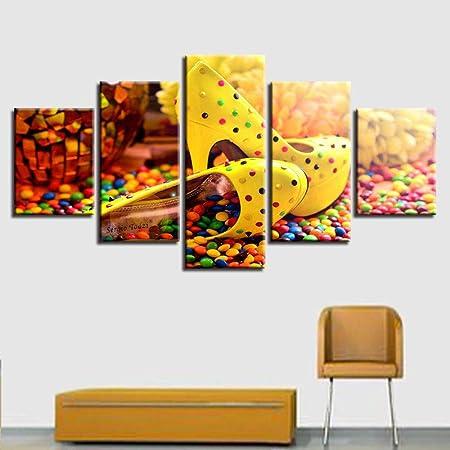 JWLSDT 5 lienzos Impresiones en HD Pintura Sala de Estar ...