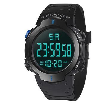 FECHA deportes pulsera reloj de pulsera digital, Y56 Boy para hombre lcd digital Cronómetro digital