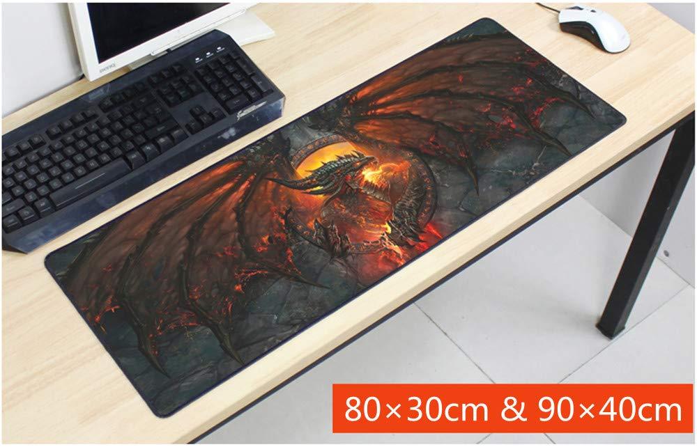 Grande Zerbino Un Computer da Tavolo Pad La scrivania di Pad 800 x 300 x3 mm // 31.5 x 11.8 x 0.12 inch, 4 Tappetino Gaming PC CAIYI World of Warcraft Wow Tappetino per Mouse