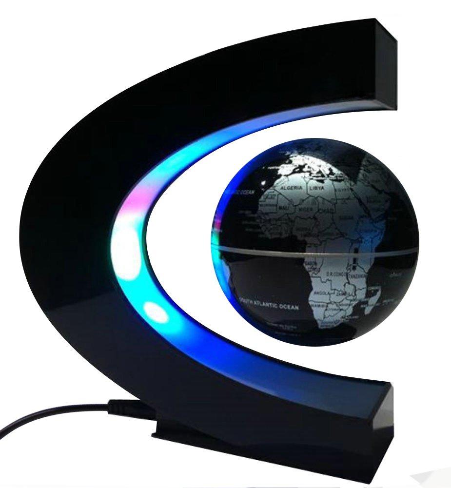 MKQPOWER Schwebender Globus Weltkugel mit LED im C – förmigen ...