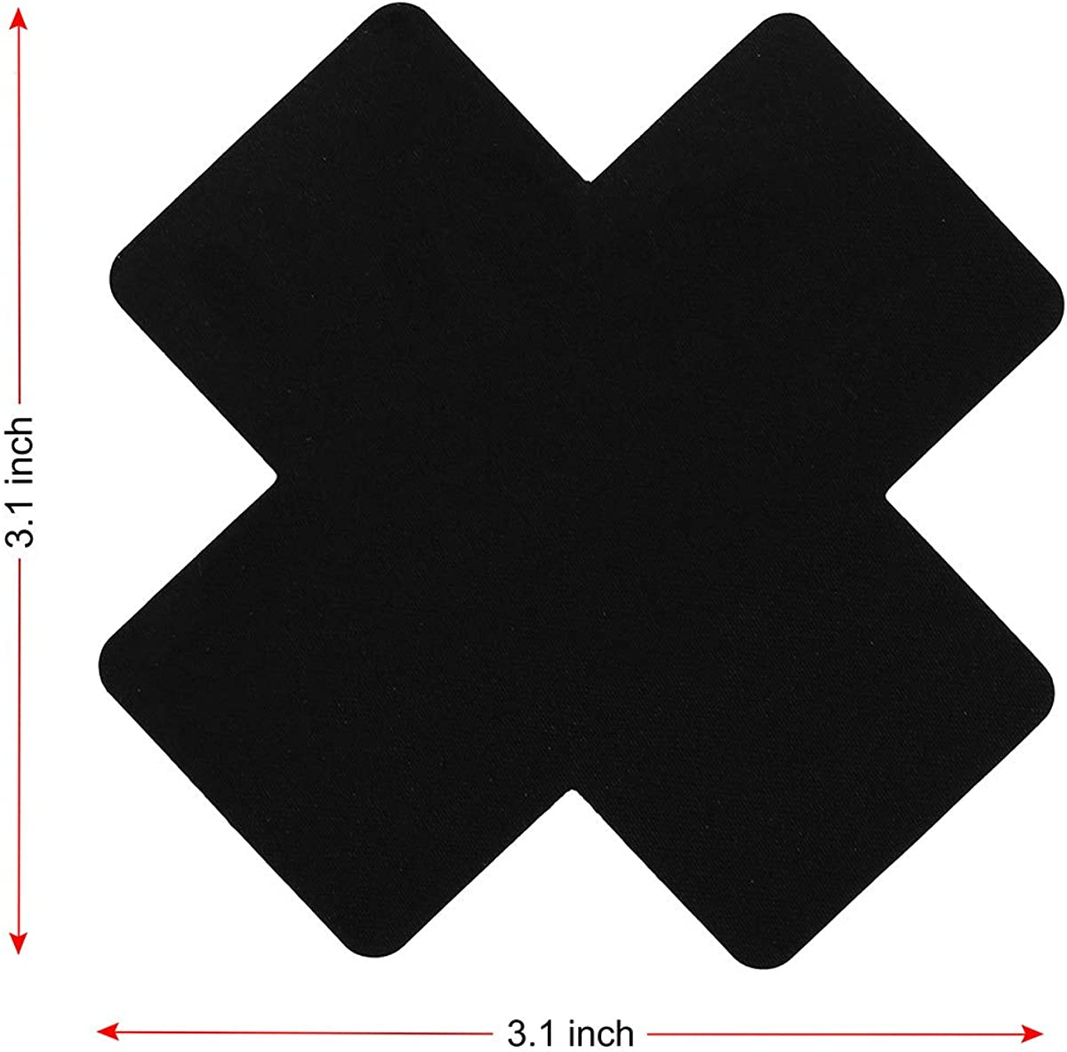 US 20Pcs Cross Shape Self-Adhesive Satin Nipple Cover Breast Pasties Stickers