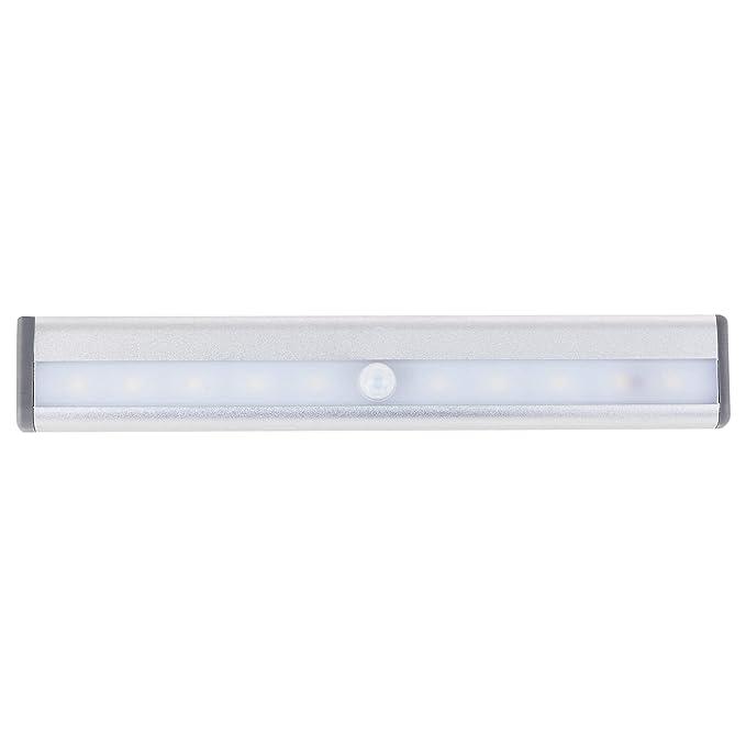 SEBSON® LED Lampara sensor movimiento, LED bajo gabinete, funciona con baterías: Amazon.es: Iluminación