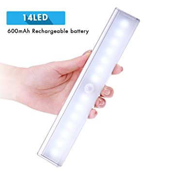 Rechargeable Motion Sensor Light, Cshidworld Wireless Closet Light Stick On  Anywhere 14 LED