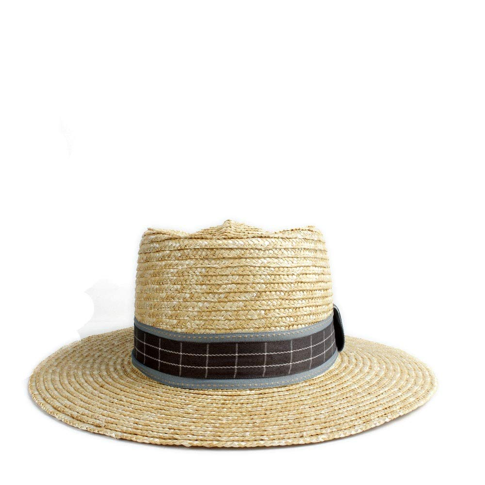 MUMUWU Sun Hat Straw Straw Women Hat Jazz Outside Plaid Cloth Party Cap Fashion Stripy Performance Dome Hat (Color : 1, Size : 56-58CM)