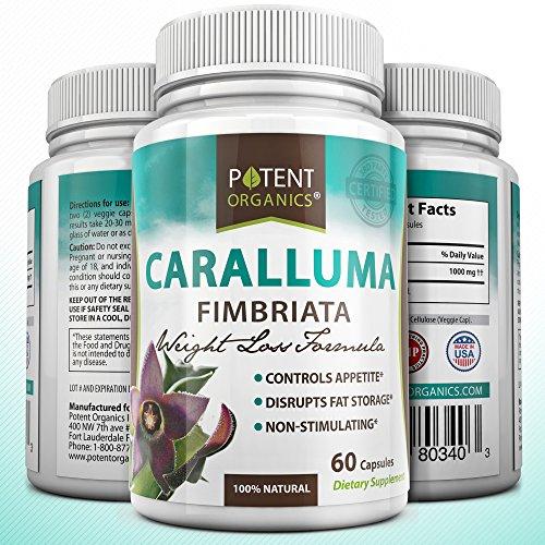 Caralluma fimbriata extrait pur - All Natural - Super Force Appétit - qualité pharmaceutique - Extreme Carb Blocker et Fat Burner - Diurétique et la perte de poids régime alimentaire à base de plantes supplément maximum de résultats - Haute Puissance - Au