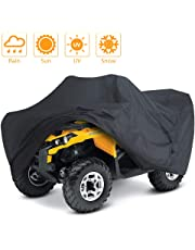 LotFancy All Weather ATV Cover, Durable Universal Waterproof Wind-Proof UV Protection (S 76x45x33 inches)