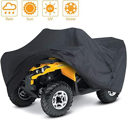 ATV Quad Windproof Covers ATC Rain Cover UV Protects 7 Wheeler for Polaris Sportsman Outlaw Yamaha Grizzly Wolverine YFZ Honda Sportrax TRX Kawasaki Waterproof ATV Cover