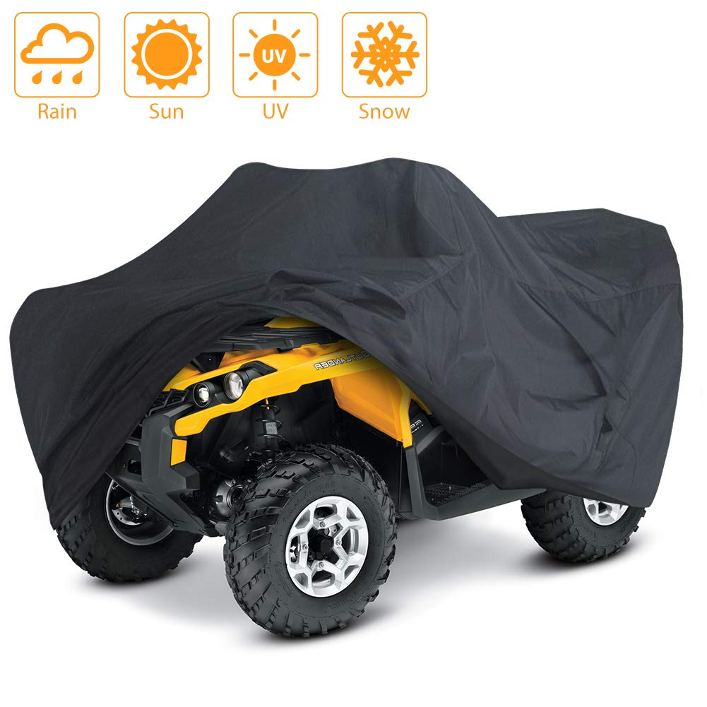 LotFancy All Weather ATV Cover, Durable Universal Waterproof Wind-Proof UV Protection (S 76x45x33 inches) by LotFancy