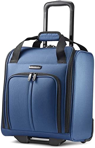 Samsonite Leverage LTE Softside Underseat Boarding Bag with Wheels, Poseidon Blue, One Size