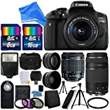 Canon EOS Rebel T6i / 750D 24.2MP Digital SLR Camera Bundle w/ Canon EF-S 18-55mm f/3.5-5.6 IS STM [Image Stabilizer] Zoom Lens & EF 75-300mm f/4-5.6 III Telephoto Zoom Lens & DigitalAndMore BUNDLE