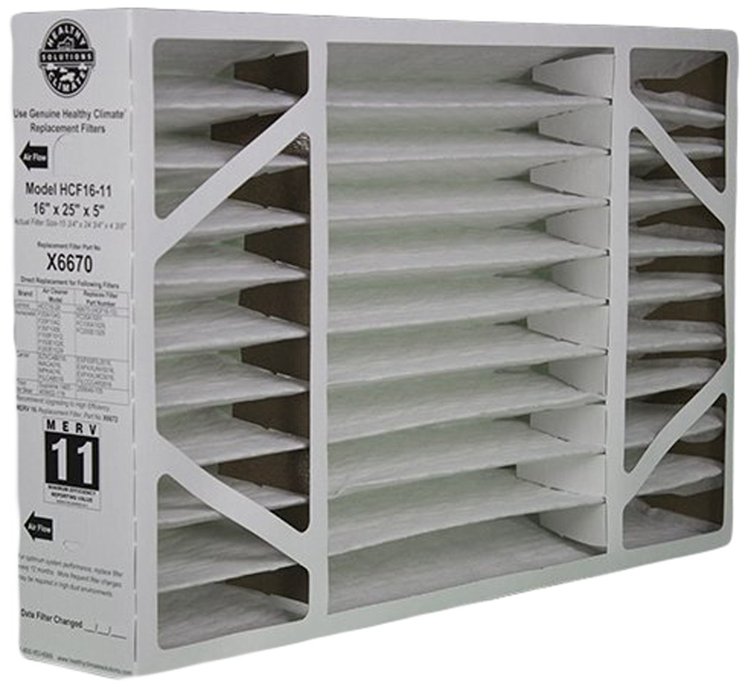 lennox x6672. lennox 16x25x5 x6670 merv 11 box replacement filter for and honeywell x6672
