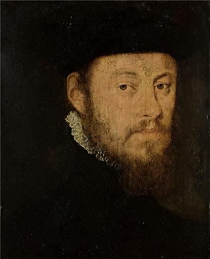 Oil Painting Portrait Of A Man 16th Century French