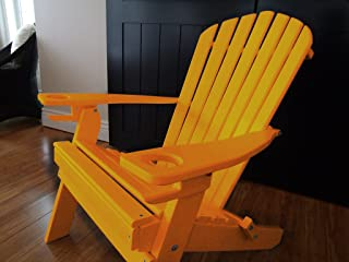 product image for Poly Recycled Plastic Adirondack Chair with Two Cupholder-Orange